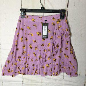 Nasty Gal Womens Ruffle Wrap Mini Skirt 10 NWT